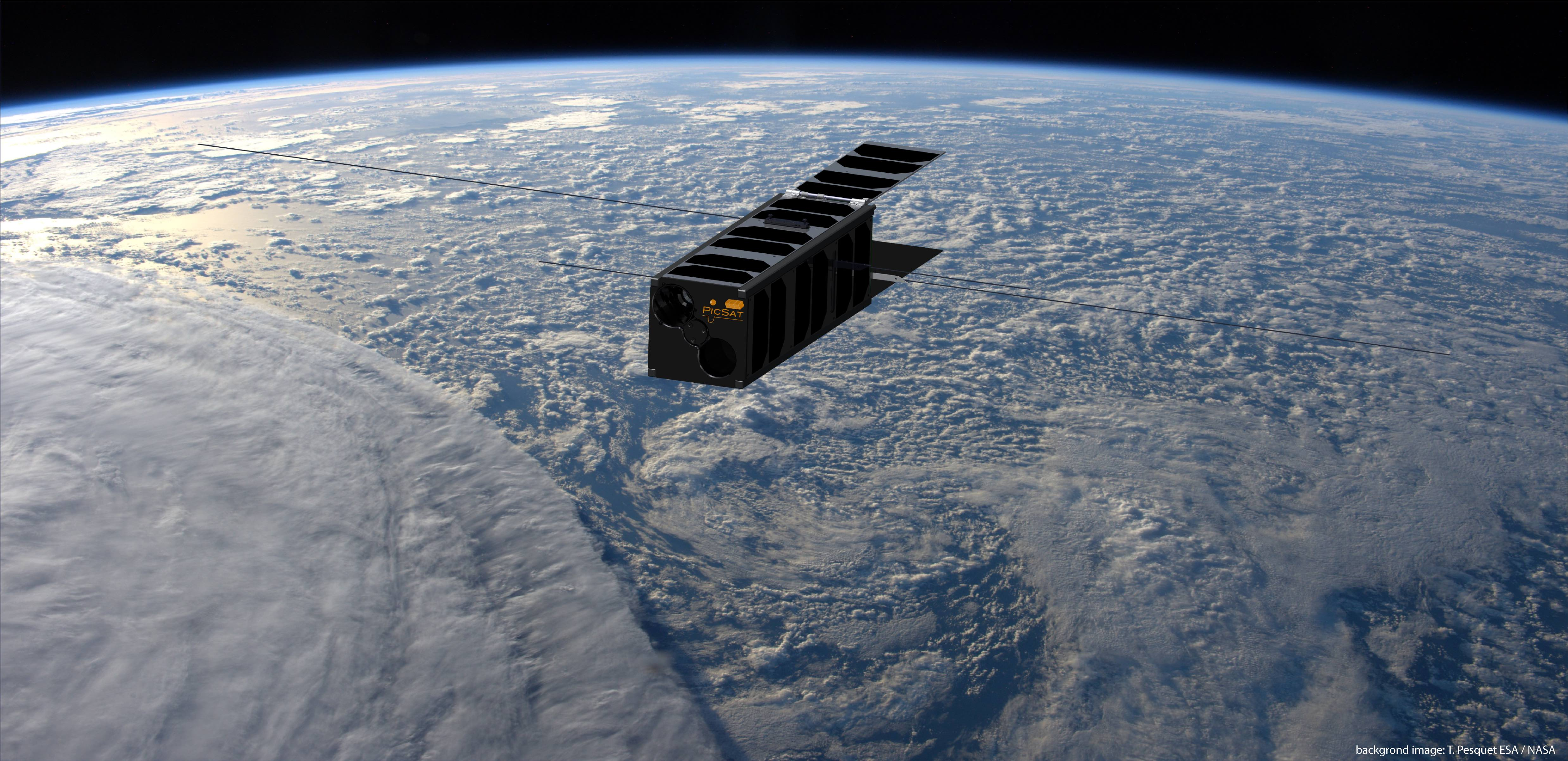 Picsat in orbit